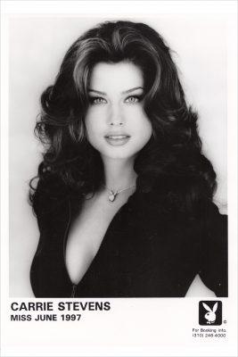 Carrie Stevens BW Playboy PR photo