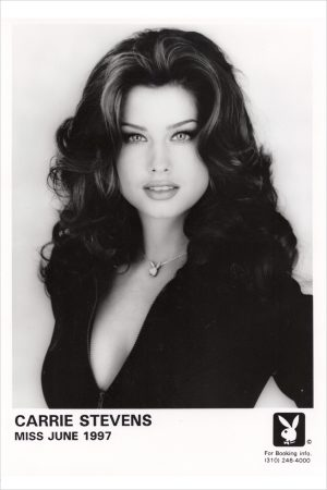Carrie Stevens BW Playboy PR photo